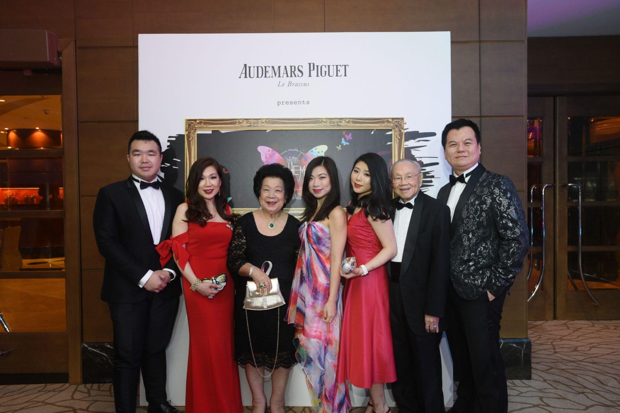 Bertrand Peh, Susan Peh, Mary Ho, Melissa Peh, Desiree Peh, Mark Leong, Adrian Peh