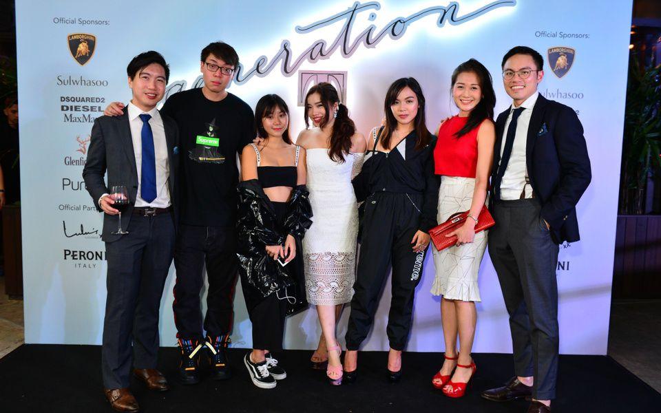 Johannes See, guest, Claudine Ng, Liyann Seet, Chloe Ng, Meaghan See, Yung Ong