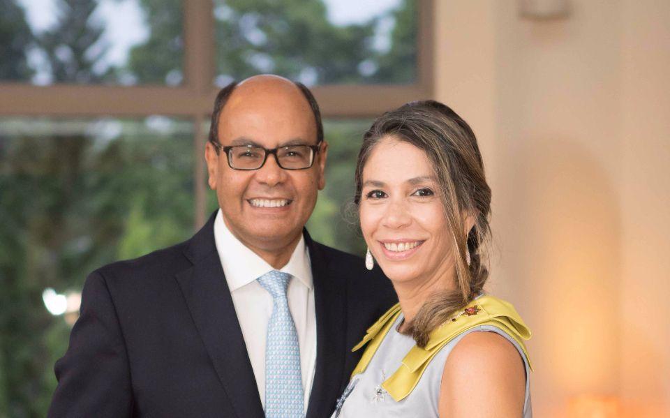 H.E. Flávio S. Damico, Rosa Maria Campos Damico