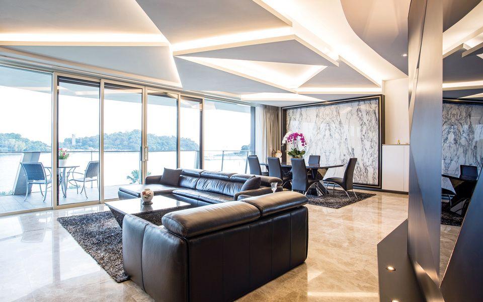 Summerhaus D'zign, interior design, geometric, modern
