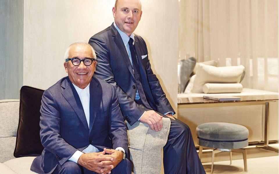 Pietro and Giuliano Galimberti of family-run Italian furniture brand Flexform