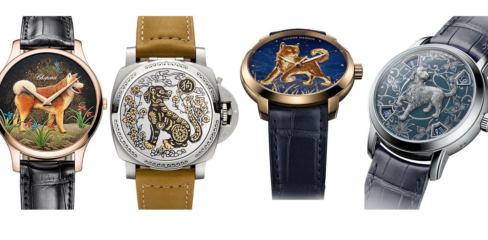 (由左至右)蕭邦、沛納海、雅典錶、江詩丹頓。