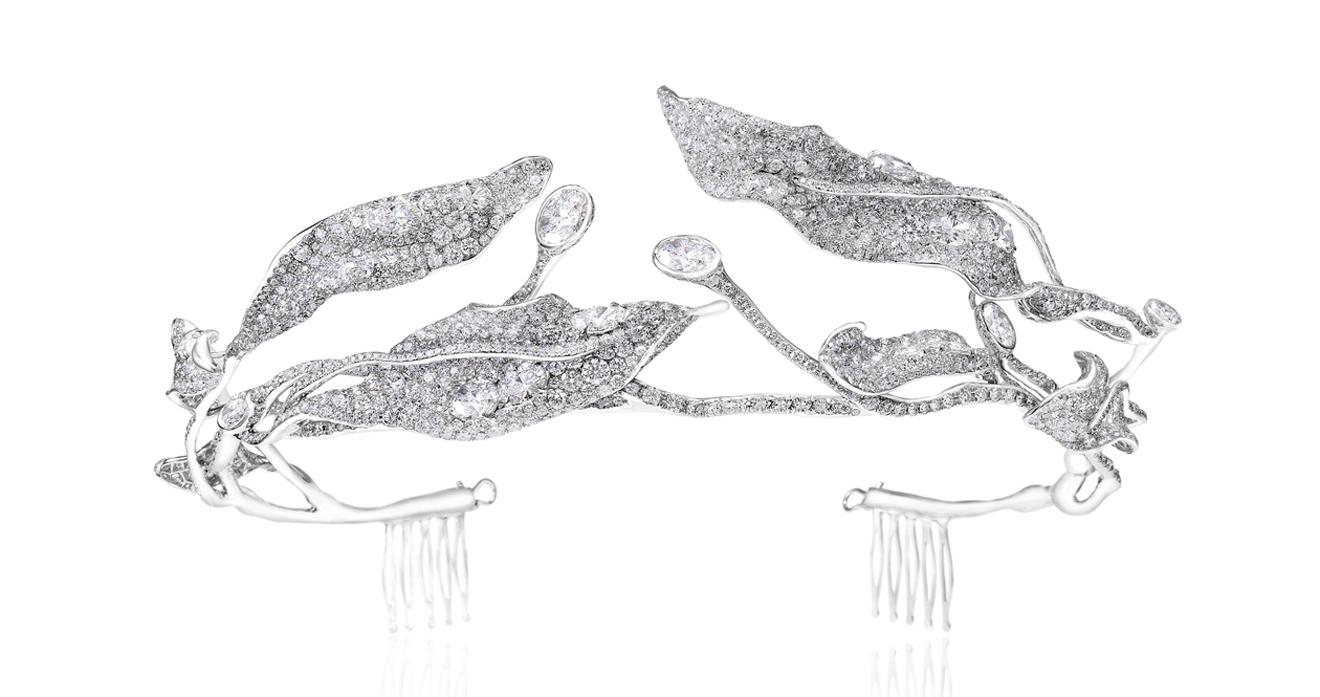 四季系列葉子鑽石冠冕by Cindy Chao。