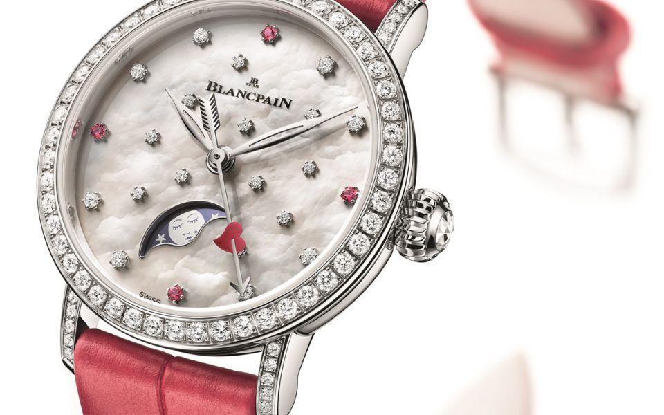 限量99枚的月相顯示腕錶 by Blancpain。