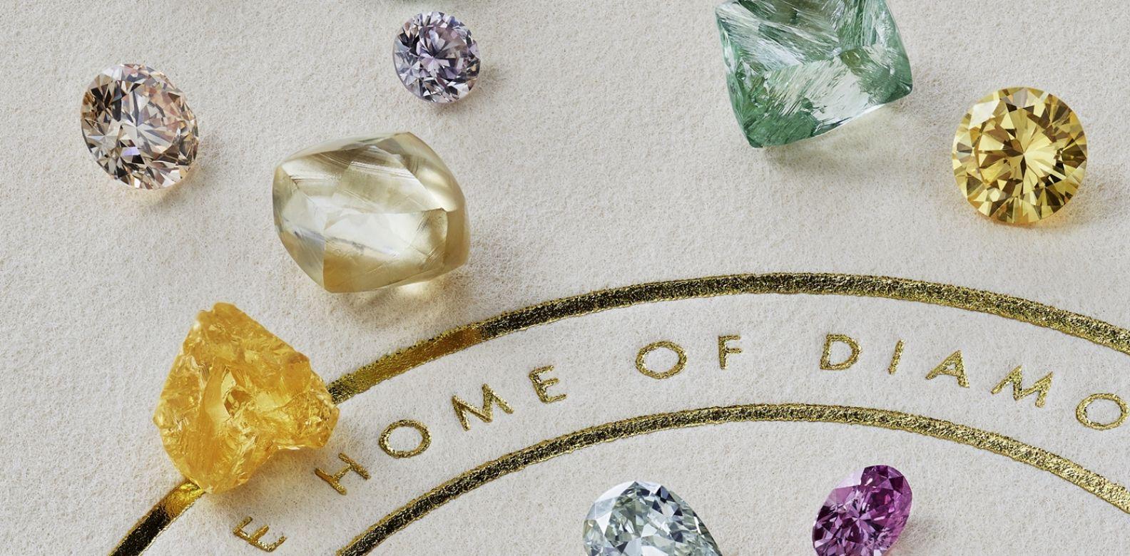 精心挑選的美麗彩鑽by De Beers。