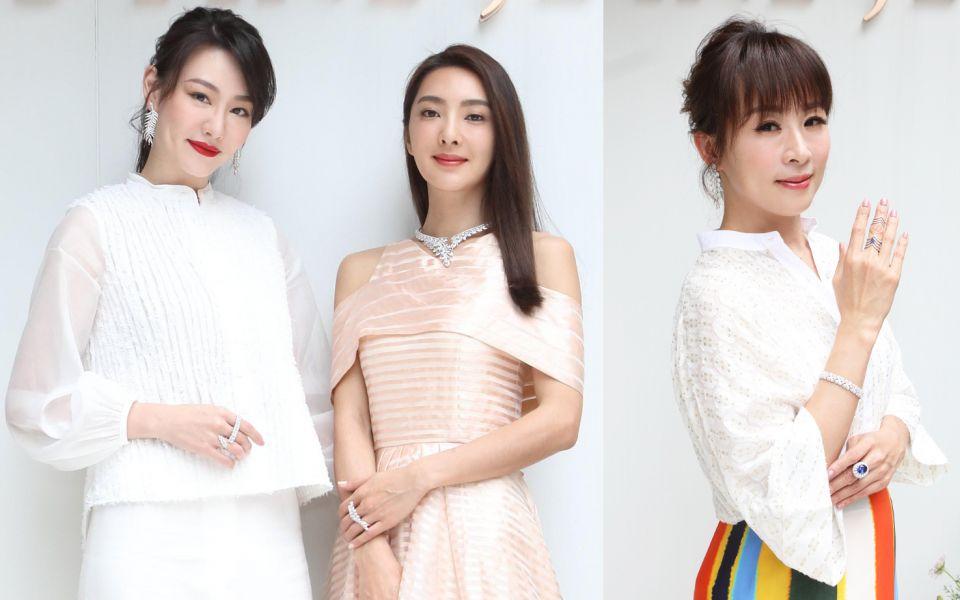 (由左至右)珠寶設計師侍懷鳳、吳速玲、路永佳。
