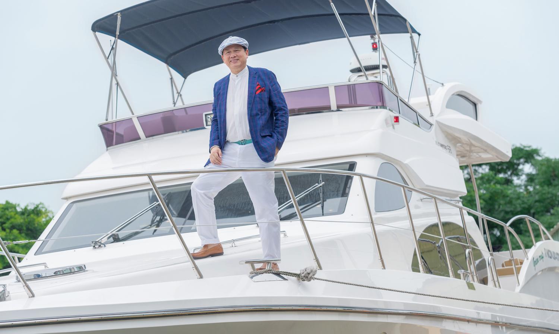 陶君亮不僅造船,更致力推動海洋休閒事業發展。(Photography/Makoto Lin)