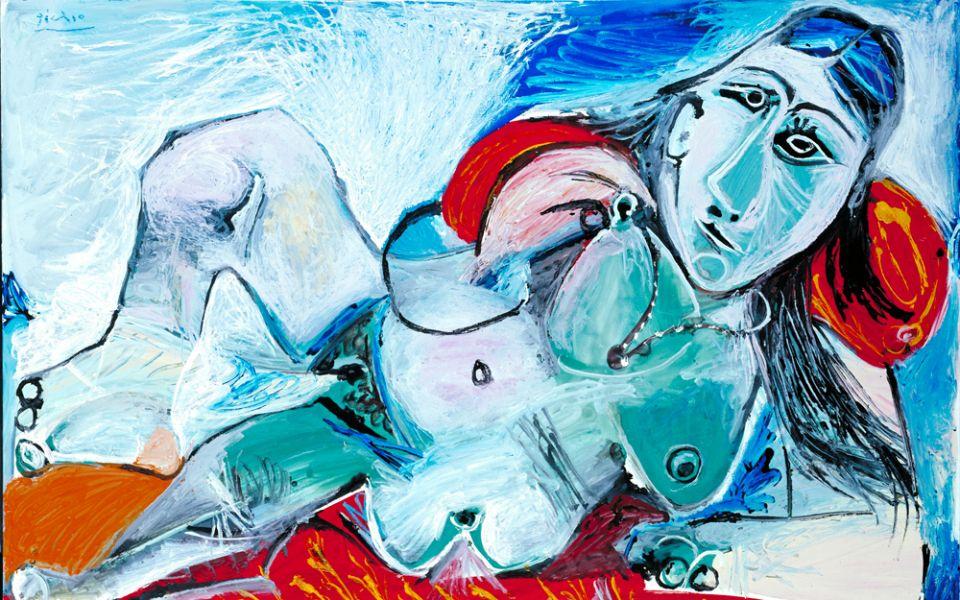 巴布羅‧畢卡索(1881–1973), 戴項鍊的裸女, 1968 Tate: Purchased 1983 © Tate, London 2018 © Succession Picasso/DACS, London 2018