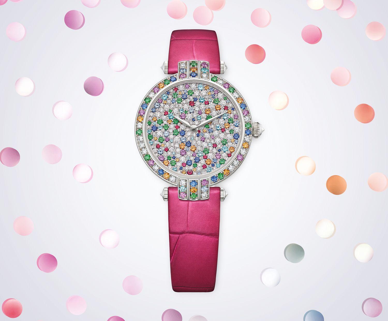 卓時Premier系列Winston Candy 31毫米自動腕錶by Harry Winston。