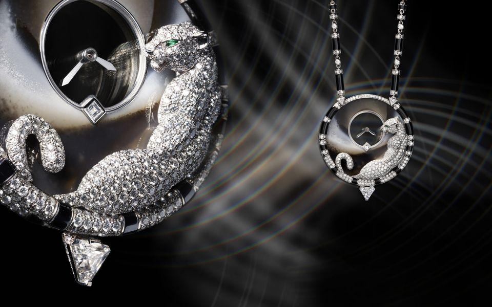 Panthère Mystérieuse 頂級珠寶美洲豹墜式腕錶。(圖片提供/Cartier)