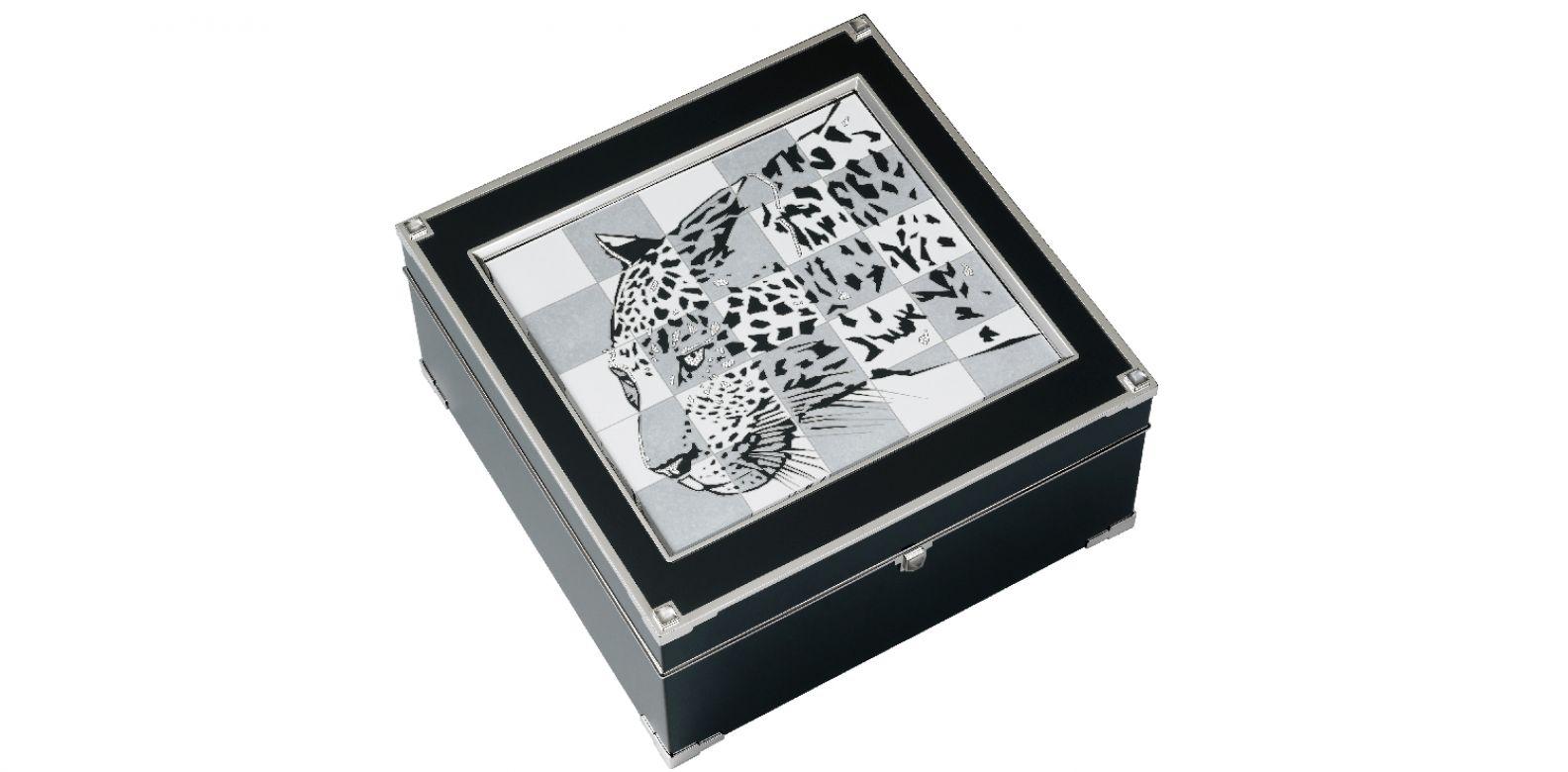 美洲豹頂級珠寶系列珠寶盒。(圖片提供/Cartier)