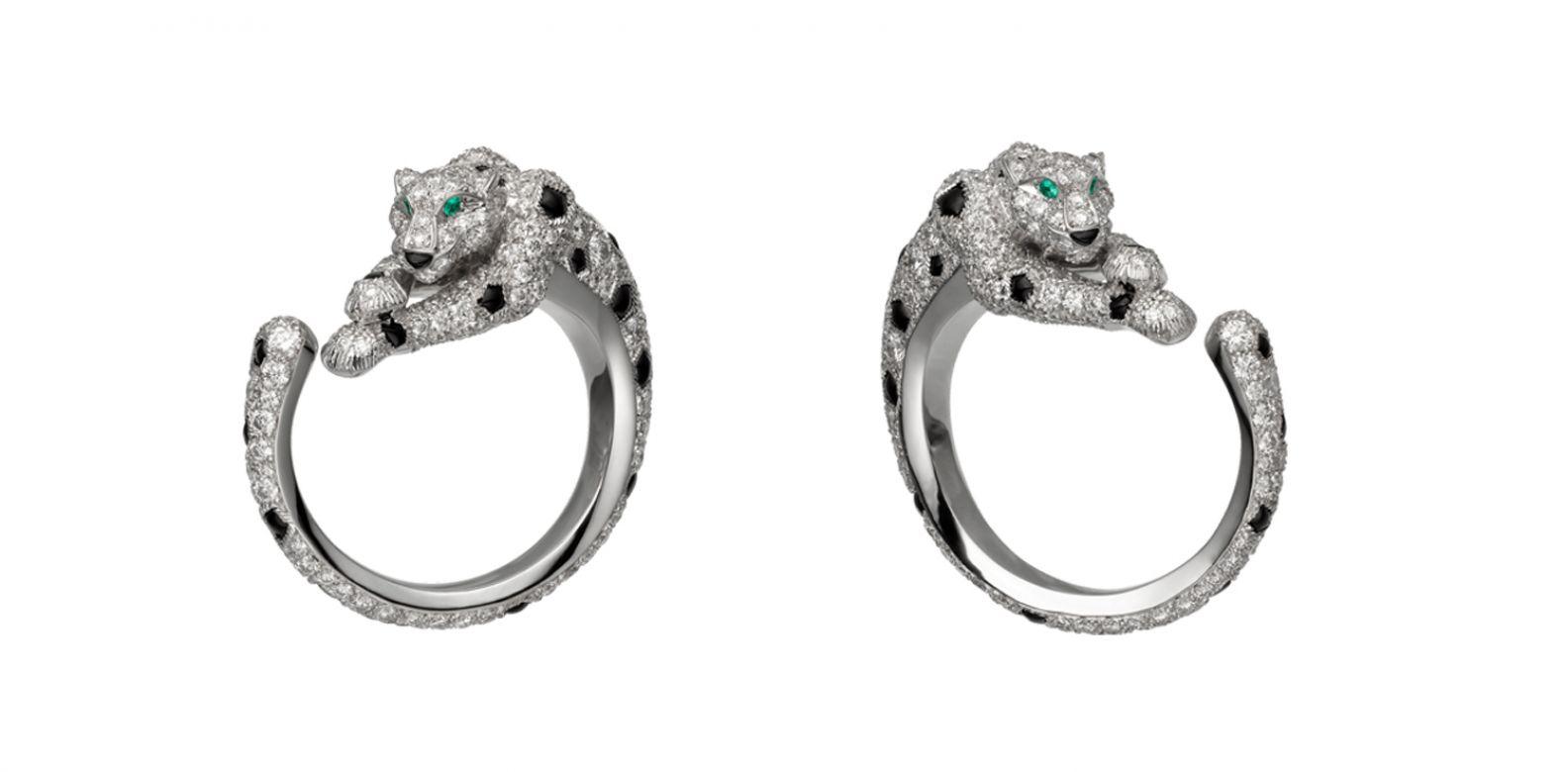 美洲豹 Panthère Lovée 系列耳環。(圖片提供/Cartier)