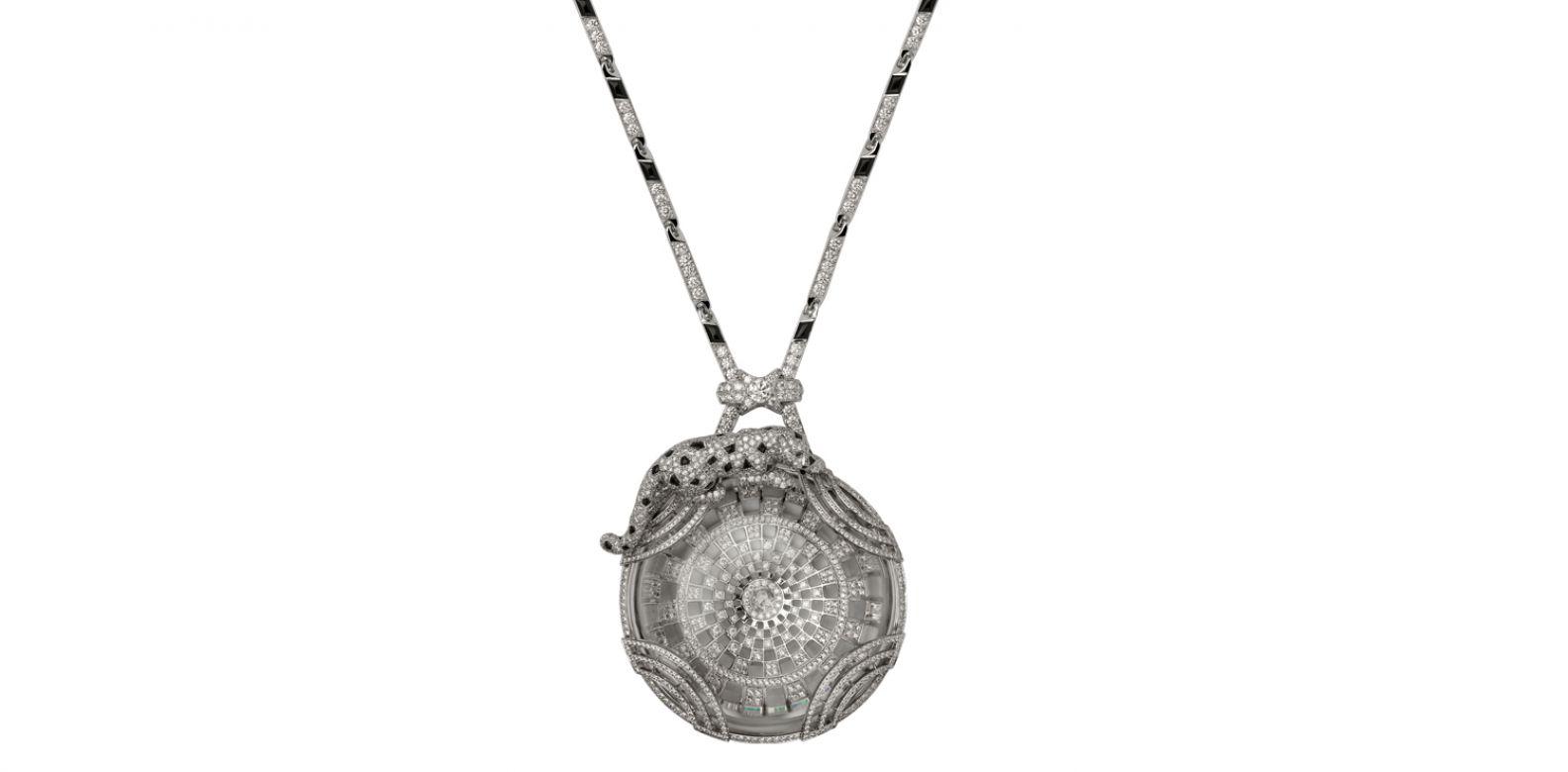 Panthère de Cartier 美洲豹頂級珠寶系列水晶項鍊。(圖片提供/Cartier)