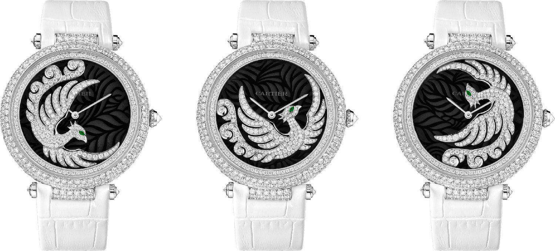 Envol d'un Phoenix鳳凰造型腕錶by Cartier。