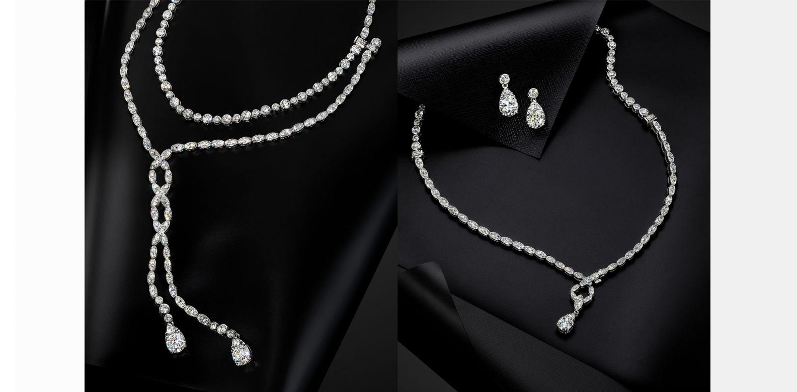Lorelei Floral Convertible  可轉換式鑽石項鍊/耳環。(圖片提供/Hearts On Fire)