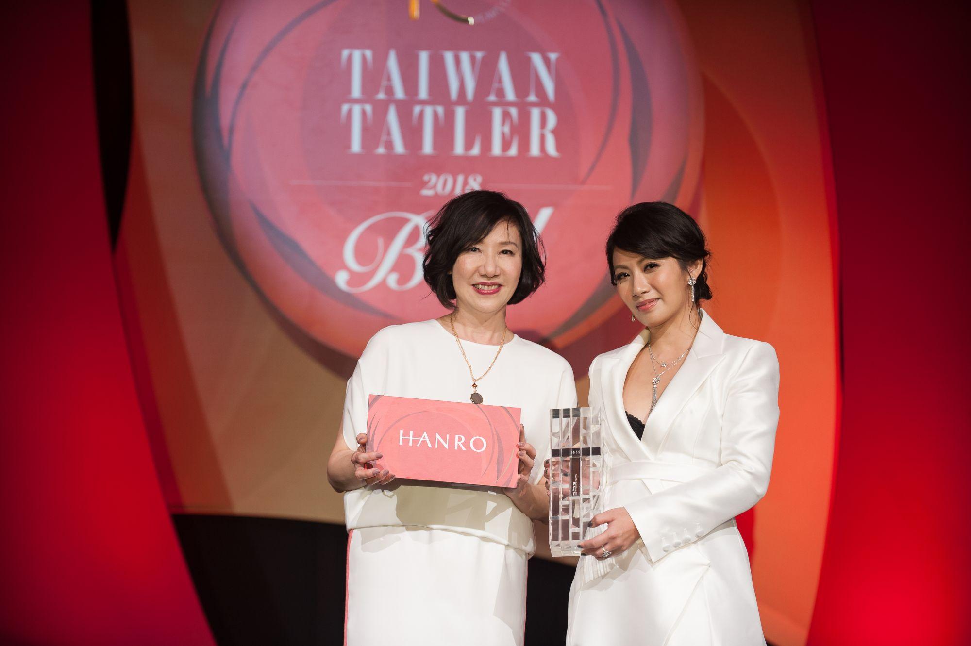 Weng Collection執行長蔡佳宸獲「亞洲最具風尚女性」,獎品由Hanro贊助。
