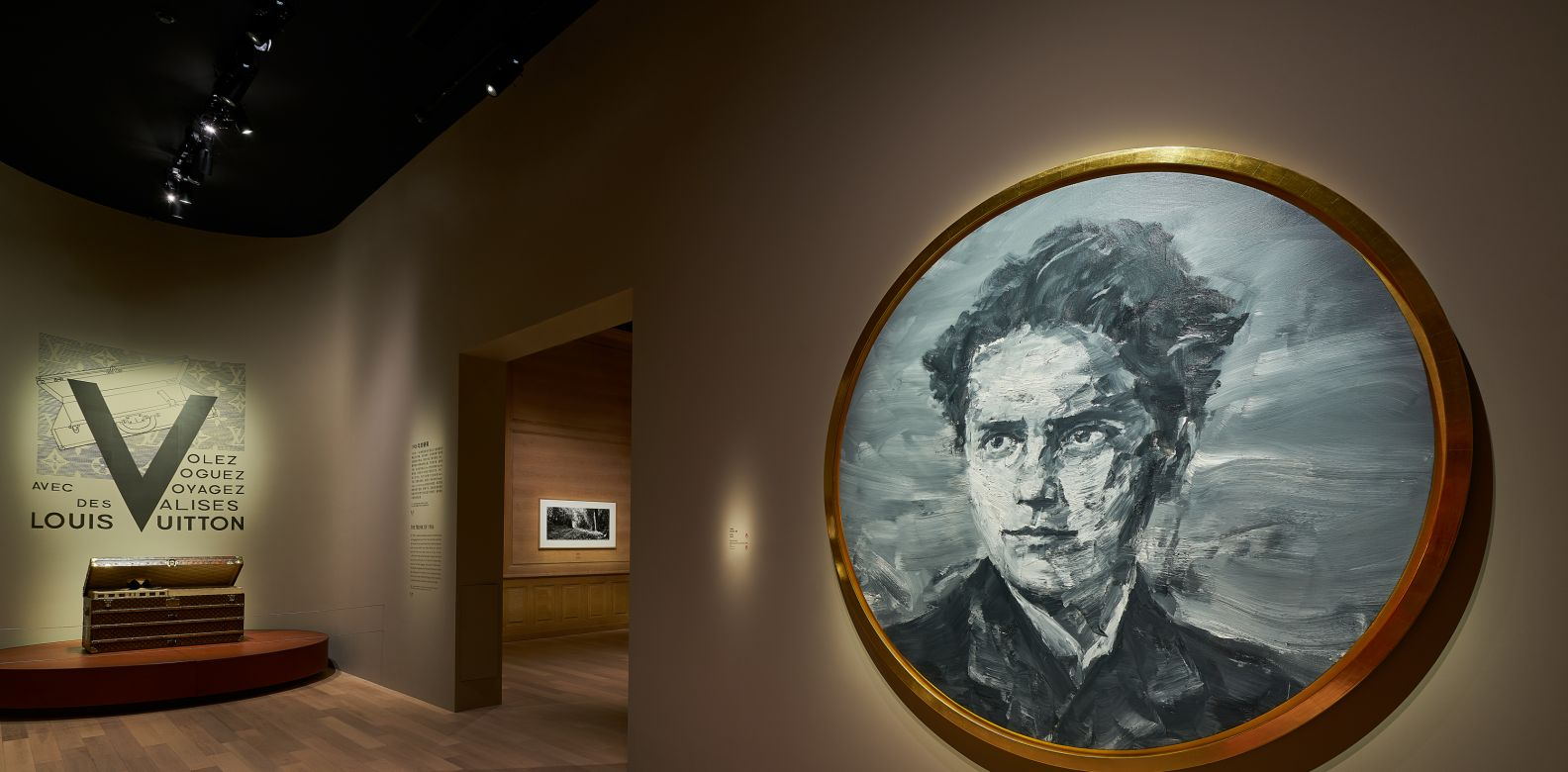 展覽由中國藝術家嚴培明所繪製的「路易‧威登青年肖像」揭開序幕。