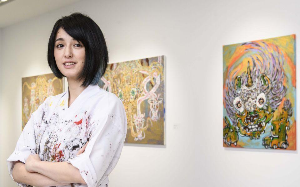 小松美羽by 白石畫廊。