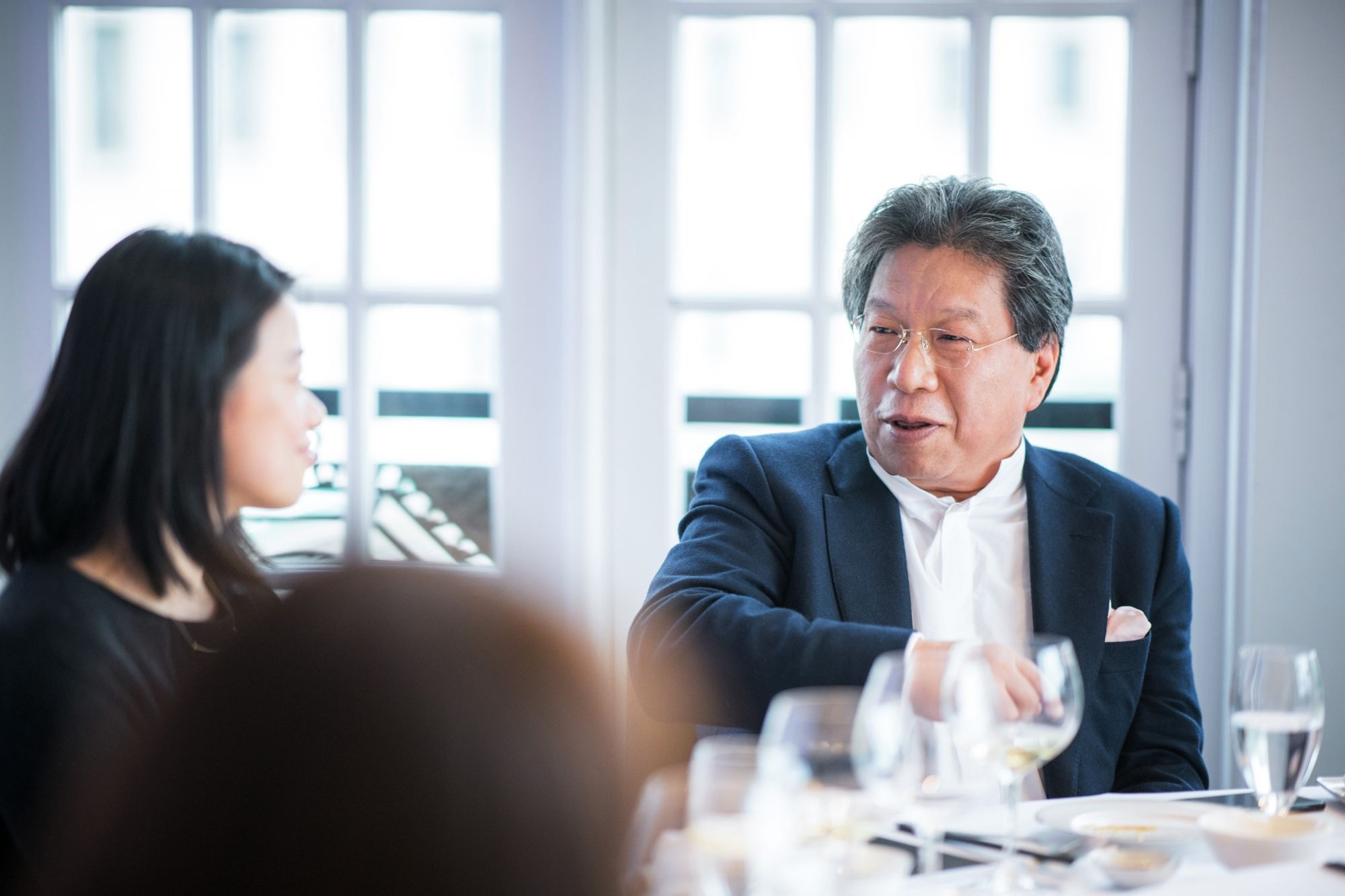 David Lu, founder of 55 by the Group, at the Shanghai kickoff lunch