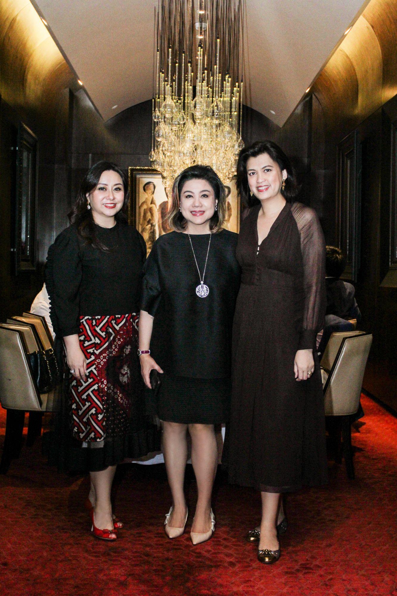 Wulan Tilaar Widarto, vice chairwoman of Martha Tilaar Group; Millie Stephanie Lukito, CEO of Mobiliari Group; and celebrity chef Arimbi Nimpuno