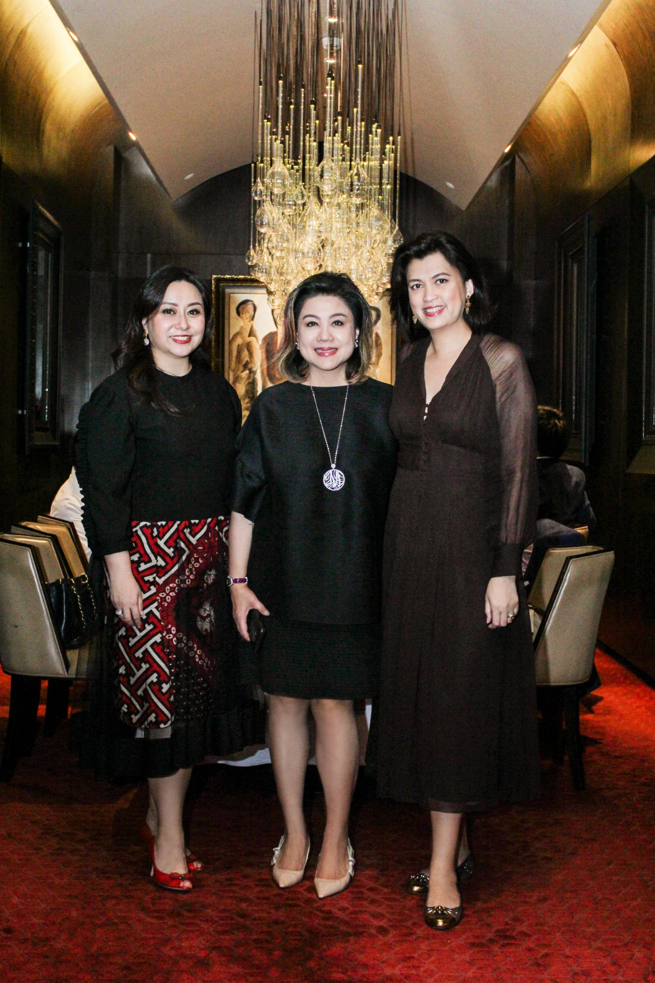 Wulan Tilaar Widarto, vice chairwoman of Martha Tilaar Group; Millie Stephanie Lukito, CEO of Mobiliari Group; and celebrity chef Arimbi Nimpuno